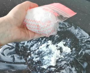 Air Dry Clay stored in an air tight bag