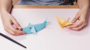 origami fish bird