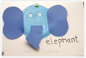Elephant paper craft