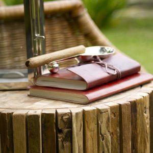 Reading corner in a garden