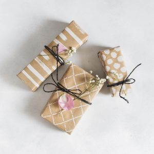 Gift wrap with flowers
