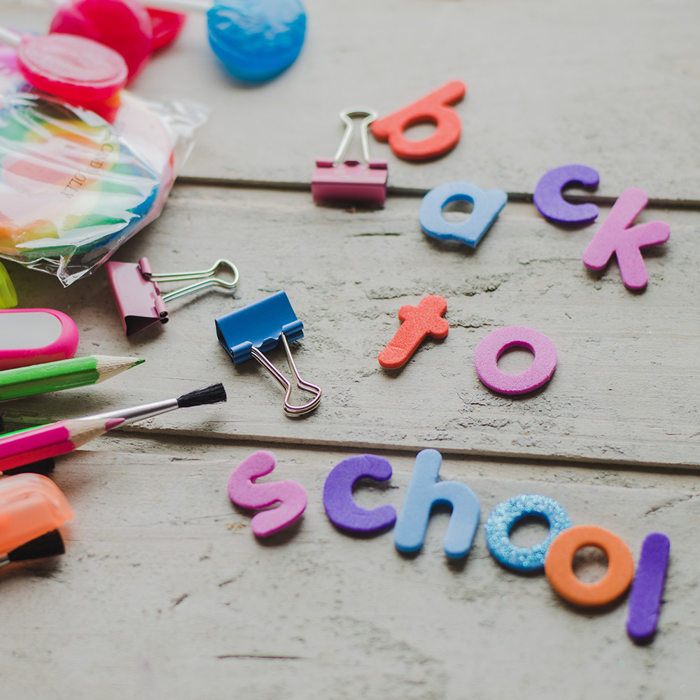 Back to school art and craft letters