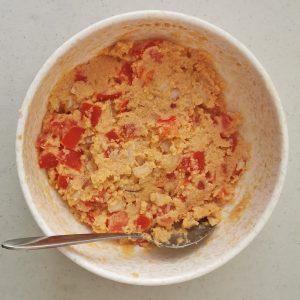 kishik, tomato and onion mixture