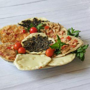 Lebanese mini manakish plate
