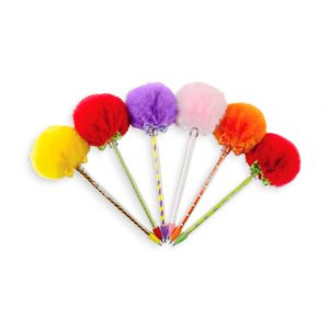 Pens with pompoms