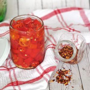 Red chili jar
