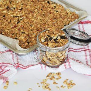 low calorie granola jar